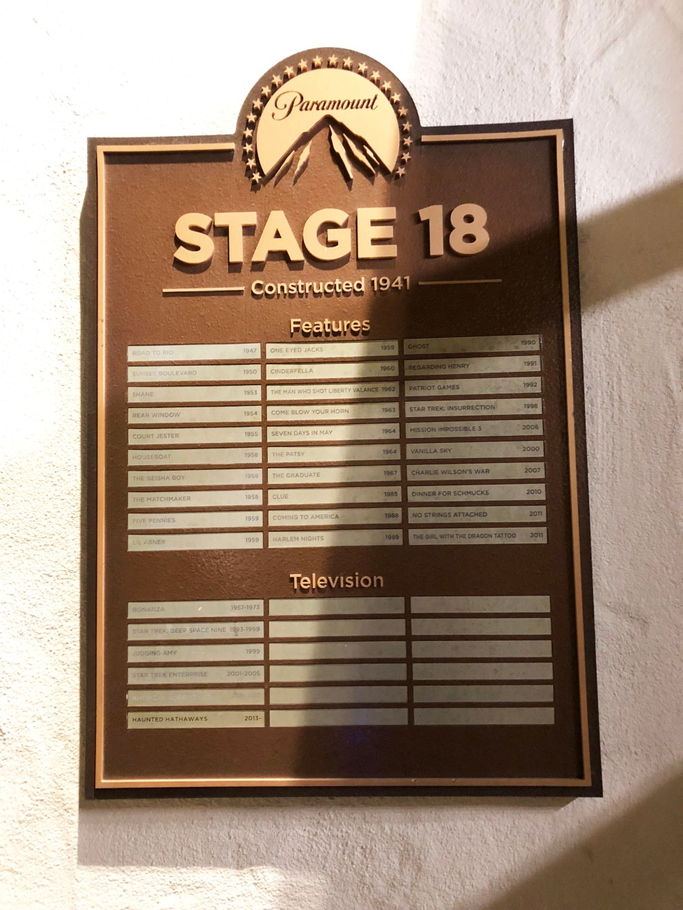 Paramount Pictures Famous Stage18